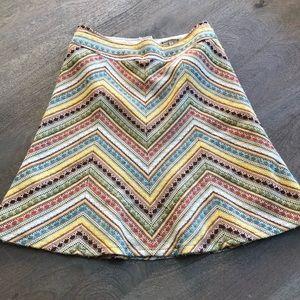 70's Vibe NANETTE LEPORE Multi Color Skirt  10